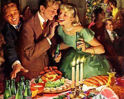 Lang lebe die Weihnachtsfeier: Werbung aus den 50ern