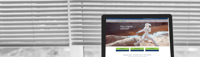 United Sales | Responsive Webseite: Konzept, Gestaltung, Realisation